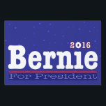 "Bernie Sanders 2016 Blue Stars Sign<br><div class=""desc"">Show your support for Bernie Sanders with this yard sign that features Bernie&#39;s first name in large white type along with light-blue stars against a blue background.</div>"
