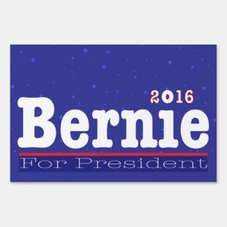 Bernie Sanders 2016 Blue Stars Sign