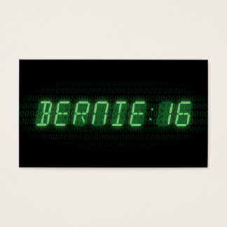 Bernie Sanders 2016 Clock Business Card
