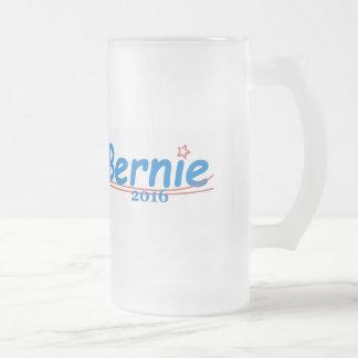 Bernie SANDERS 2016 Frosted Glass Beer Mug