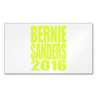 Bernie Sanders 2016 Neon Design Magnetic Business Cards (Pack Of 25)