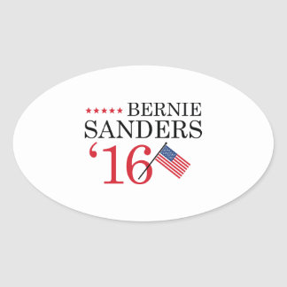 Bernie Sanders 2016 Oval Sticker