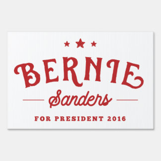 Bernie Sanders 2016 | Red and White Vintage Logo Sign