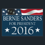 "Bernie Sanders 2016 USA FLAG Yard Sign<br><div class=""desc"">Bernie Sanders for President in 2016 yard sign with red,  white and blue American USA Flag design. Independent Party Ticket.</div>"