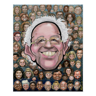 Bernie Sanders and the People Poster