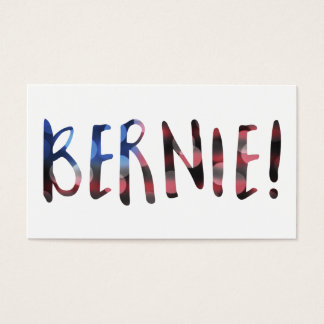 bernie sanders bokeh business card
