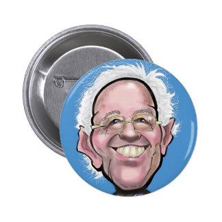 Bernie Sanders Caricature Pinback Button