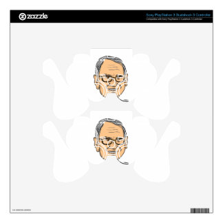 Bernie Sanders Caricature Skins For PS3 Controllers