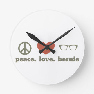 Bernie Sanders Election Swag Round Clock