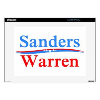 """BERNIE SANDERS - ELIZABETH WARREN 2016 PRESIDENT 15"""" LAPTOP DECALS"""