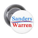 BERNIE SANDERS - ELIZABETH WARREN 2016 PRESIDENT 2 INCH ROUND BUTTON
