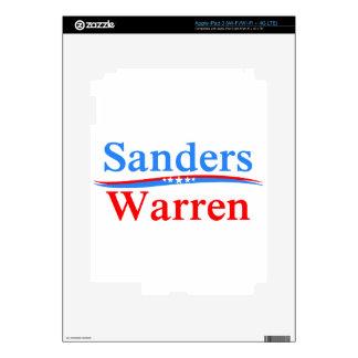 BERNIE SANDERS - ELIZABETH WARREN 2016 PRESIDENT DECALS FOR iPad 3
