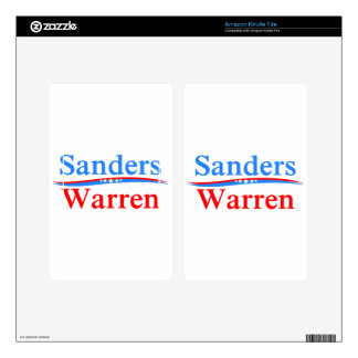 BERNIE SANDERS - ELIZABETH WARREN 2016 PRESIDENT SKIN FOR KINDLE FIRE