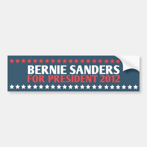 Bernie Sanders for President 2012 Bumper Sticker