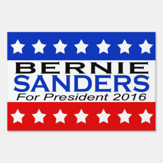 Bernie Sanders for President 2016 Campaign Lawn Sign
