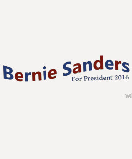 Bernie Sanders For President 2016 Campaign T-shirt