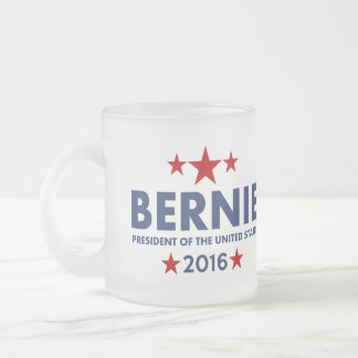 Bernie Sanders For President 2016 Frosted Glass Coffee Mug