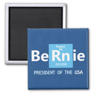 Bernie Sanders For President 2016 2 Inch Square Magnet