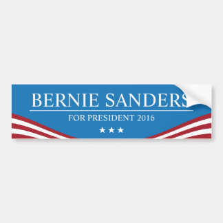 Bernie Sanders for President 2016 Modern Car Bumper Sticker