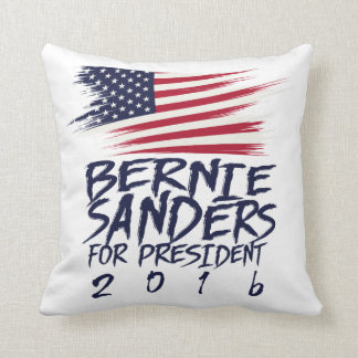 Bernie Sanders for president 2016 Throw Pillows