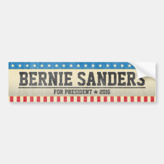 Bernie Sanders for President 2016 Vintage Design Bumper Sticker