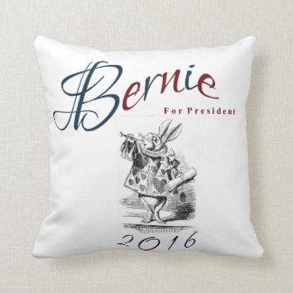 Bernie Sanders for President 2016 - White Rabbit Throw Pillow