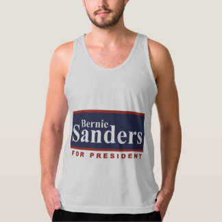 Bernie Sanders for President Campaign Sign 2016 American Apparel Fine Jersey Tank Top