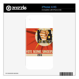 Bernie Sanders for President Decal For The iPhone 4