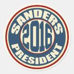 Bernie Sanders for President in 2016 Round Sticker