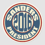 Bernie Sanders for President in 2016 Classic Round Sticker