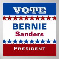 Bernie Sanders for President Poster
