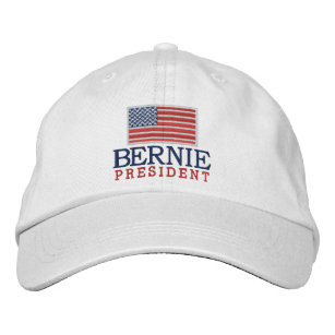 5221fccc1ee Bernie Sanders for President with American Flag Embroidered Baseball Hat