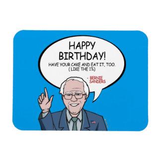 Bernie Sanders Greeting - Happy Birthday -.png Magnet