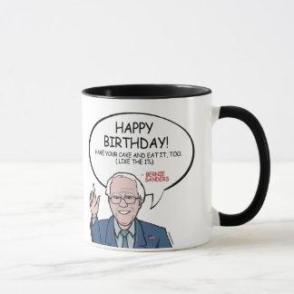 Bernie Sanders Greeting - Happy Birthday -.png Mug