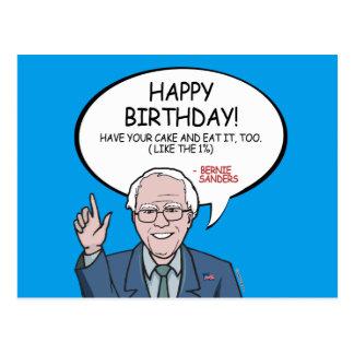 Bernie Sanders Greeting - Happy Birthday -.png Postcard