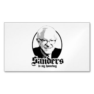Bernie Sanders is my Homeboy Magnetic Business Cards (Pack Of 25)