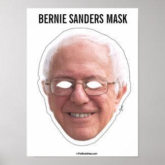 Bernie Sanders Mask Cutout Poster