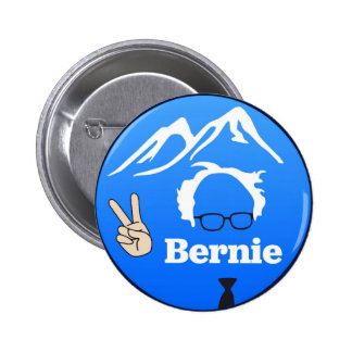 Bernie Sanders - Mountains Pinback Button