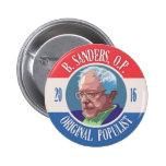 Bernie Sanders, O.P. 2 Inch Round Button