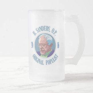 Bernie Sanders, O.P. Frosted Glass Beer Mug