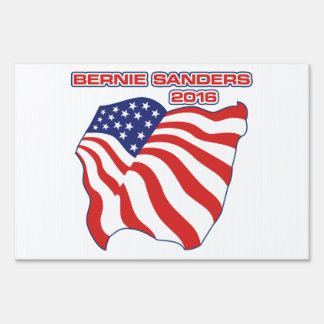 Bernie Sanders Patriotic Flag Sign