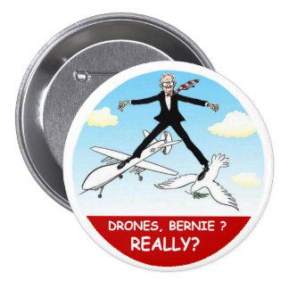 Bernie Sanders: Peace through Drone War Button