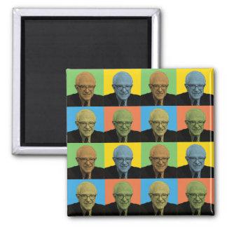 Bernie Sanders Pop-Art 2 Inch Square Magnet