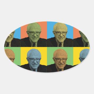 Bernie Sanders Pop-Art Oval Sticker