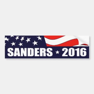 Bernie Sanders President 2016 American Flag Car Bumper Sticker