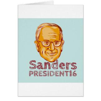 Bernie Sanders President 2016 Card