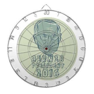 Bernie Sanders President 2016 Circle Dart Boards