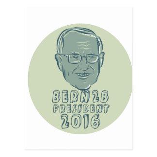 Bernie Sanders President 2016 Circle Postcard