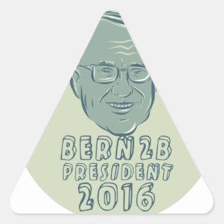 Bernie Sanders President 2016 Circle Triangle Sticker