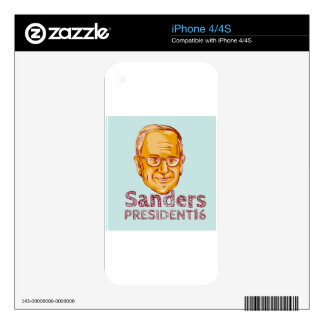 Bernie Sanders President 2016 Decals For iPhone 4